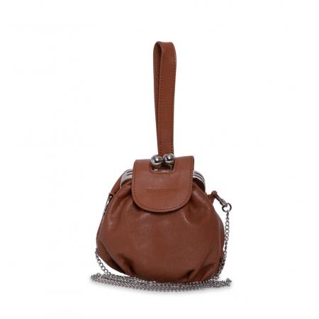 Клатч Nina Farmina 420 коричневый кожаный