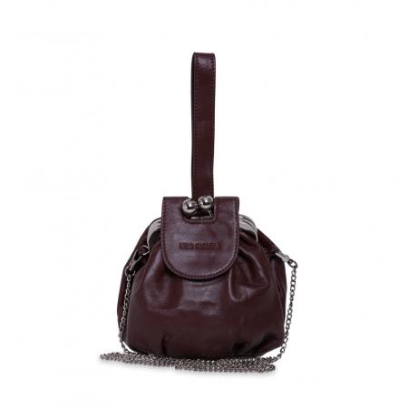Клатч Nina Farmina 420 темно-коричневый кожаный