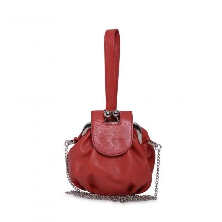 Клатч Nina Farmina 420 красный кожаный