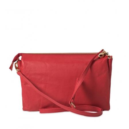 Клатч Nina Farmina 6288-033 красный кожаный