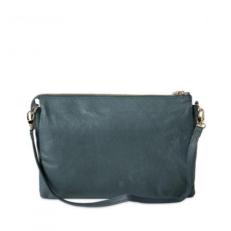 Клатч Nina Farmina 6288-036 синий кожаный
