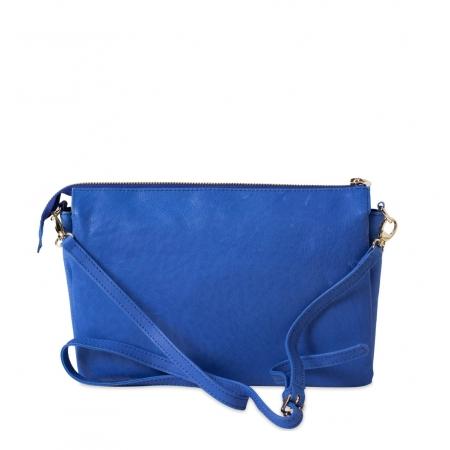 Клатч Nina Farmina 6288-073 синий кожаный