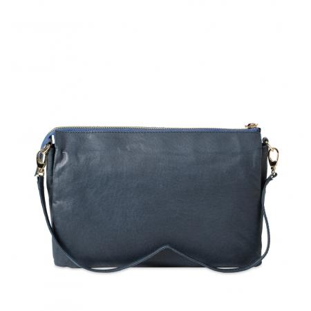 Клатч Nina Farmina 6288-076 синий кожаный