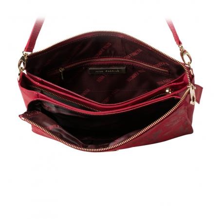 Клатч Nina Farmina  6288-091 красный кожаный