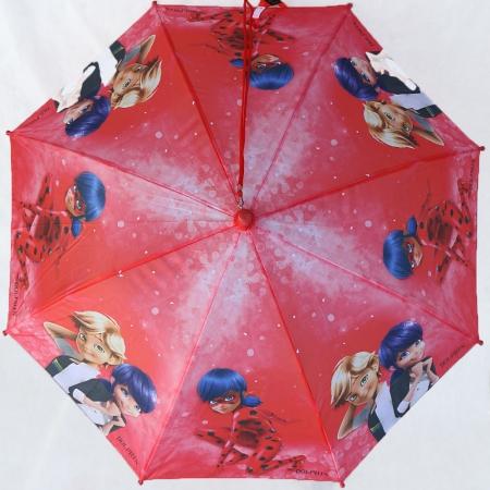 """Складной зонт трость детский для девочки """"Леди Баг"""" 902-1"""