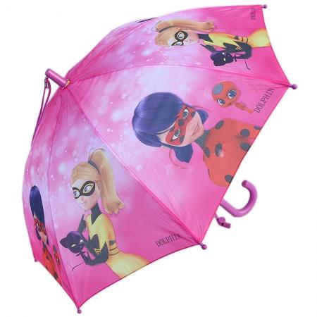 """Складной зонт трость детский для девочки """"Леди Баг"""" 902-4"""