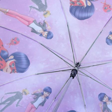 """Складной зонт трость детский для девочки """"Леди Баг"""" 902-6"""