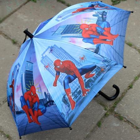 """Складной зонт трость детский для мальчика """"Человек-паук"""" 854-1"""