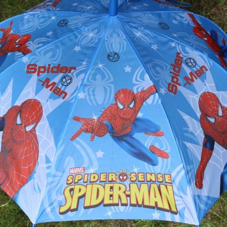 """Складной зонт трость детский для мальчика """"Человек-паук"""" 854-3"""