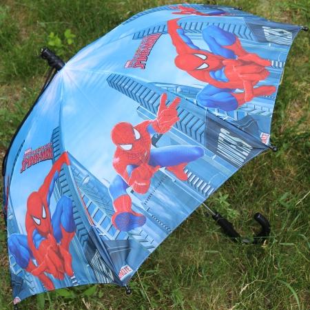 """Складной зонт трость детский для мальчика """"Человек-паук"""" 854-4"""