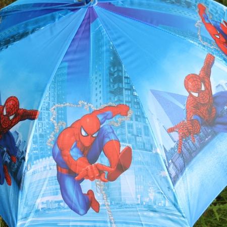 """Складной зонт трость детский для мальчика """"Человек-паук"""" 854-5"""