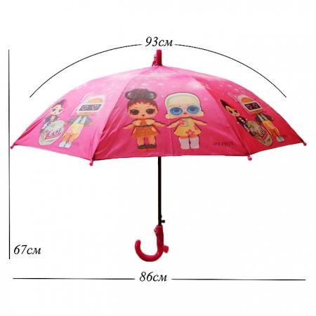 "Детский зонт ""кукла Лол"" 978-6"