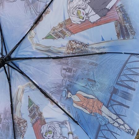 """Женский зонт полуавтомат """"Уличный стиль"""" 933-1"""