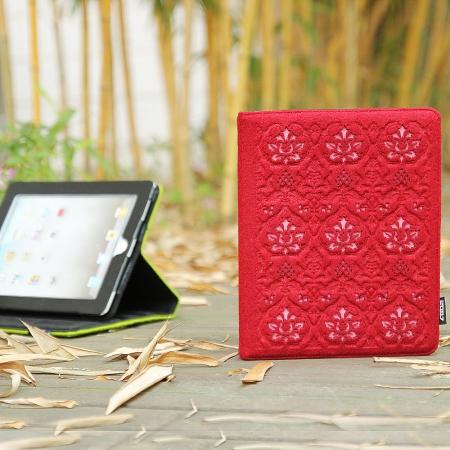 Фетровый чехол для Ipad жесткий красного цвета