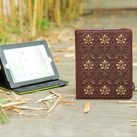 Фетровый чехол для Ipad жесткий коричневого цвета
