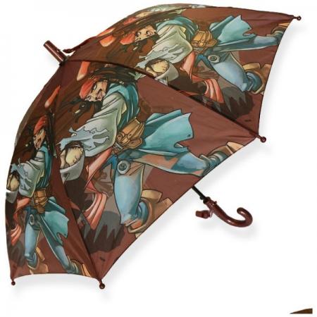 """Складной зонт трость детский для мальчика """"Пират"""" 12-8"""